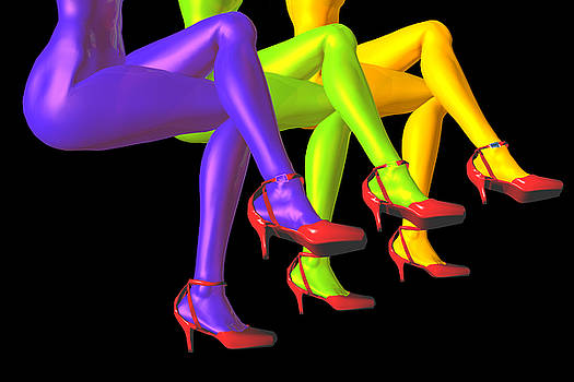 Red High-heeled shoes by Carol and Mike Werner