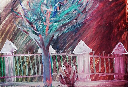Red hurricane rain by Aleksandr Volkov