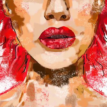 Red lips by Sladjana Lazarevic