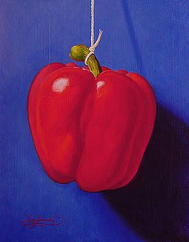 Red on Ultramarine Blue by Gary  Hernandez