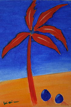 Red Palm by Karin Eisermann