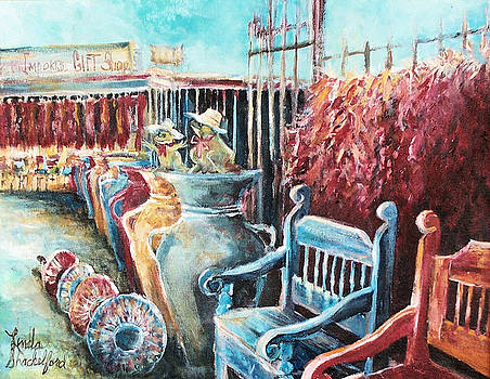 Red Peppers and Pots  by Linda Shackelford