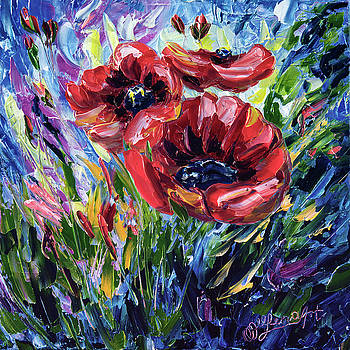 Red Poppies by Art OLena