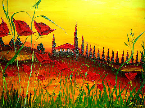 Red Poppies Of Tuscany #2 by Portland Art Creations