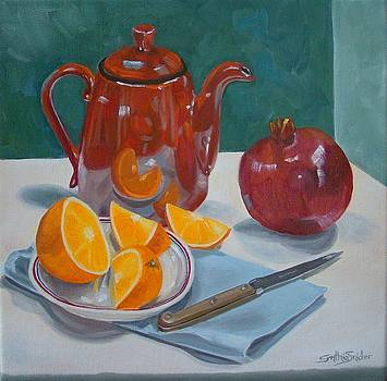 Red Pot by Cynthia Snider