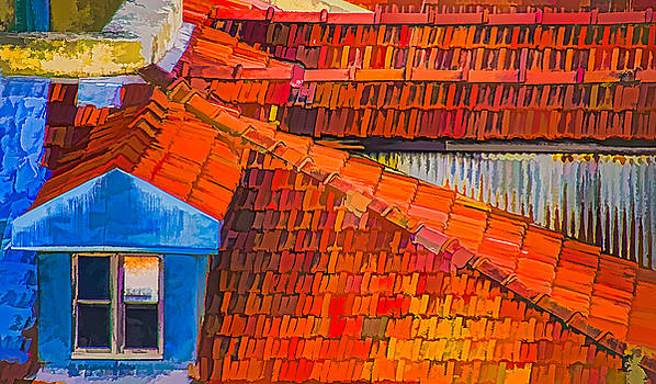 Julie Palencia - Red Roof Blue Window