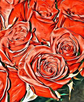 Red Roses by Marian Palucci-Lonzetta
