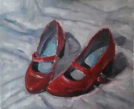 Red Shoes  by Nancy Van den Boom