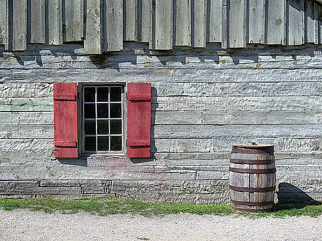 Red Shutters by Dave Mills