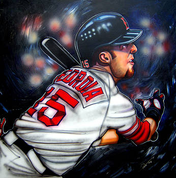 Red Sox All Star Dustin Pedroia by Dave Olsen