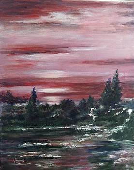 Red sun set  by Laila Awad Jamaleldin