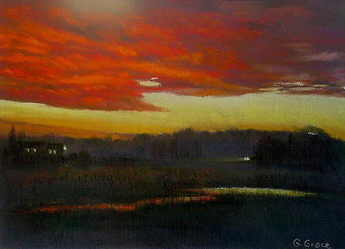 Red Sunset by George Grace
