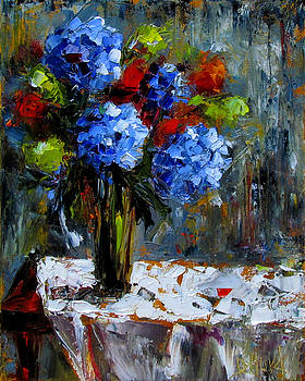 Red Table by Debra Hurd