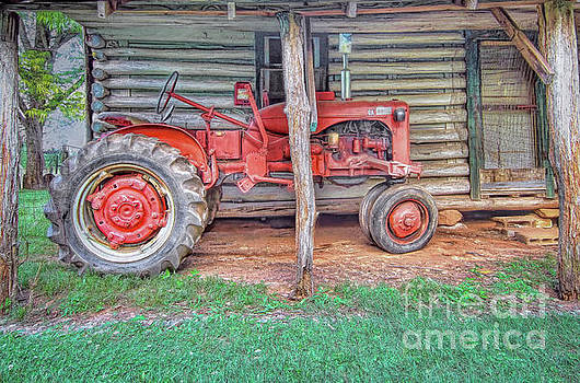 Red Tractor by Marion Johnson