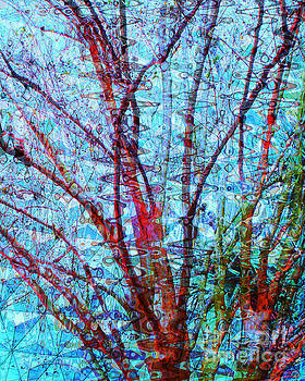 Red Tree Over Water			 by Ann Johndro-Collins