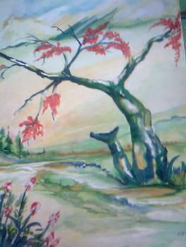 Red Tree by Seema Sharma