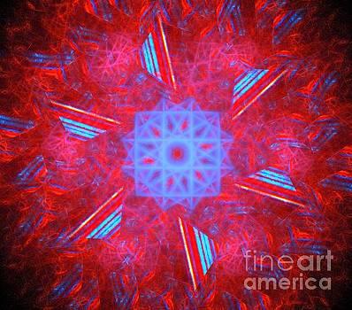 Red Triangle Flower by Kim Sy Ok