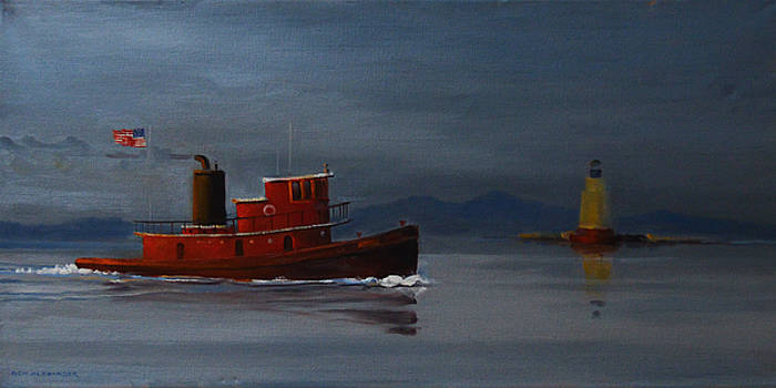 Red Tugboat  by Rich Alexander