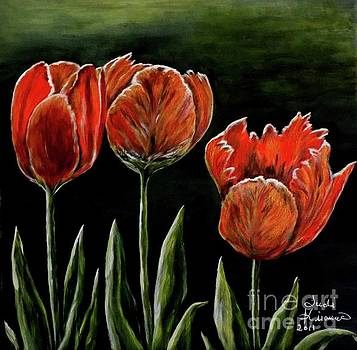 Red Tulips by Judy Kirouac
