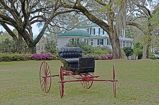 Red-Wheeled Carriage by Linda Brown