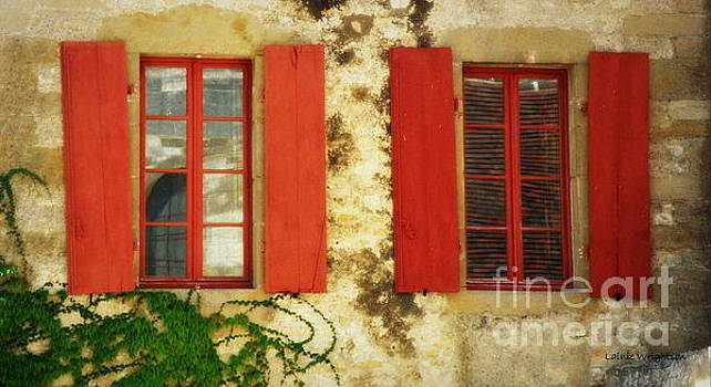 Red Windows Of Vezelay by Lainie Wrightson