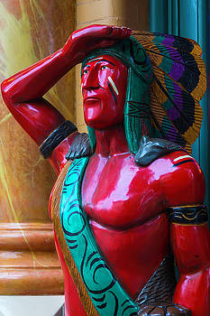 Red Wooden Indian by Garry Gay
