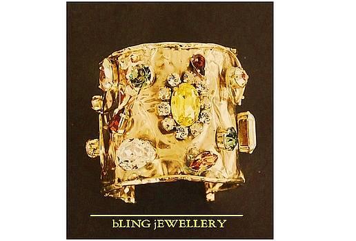 REDUCED Foil Swarovski Crystal Cuff Bracelet by Janine Antulov
