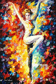 Refinement - PALETTE KNIFE Oil Painting On Canvas By Leonid Afremov by Leonid Afremov