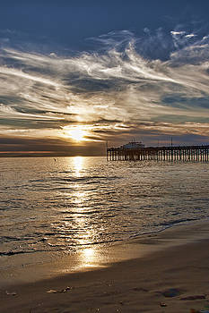 Reflecting on Balboa Pier by Chris Brannen