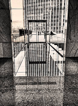 Reflection Doorway B W by Joseph Hollingsworth