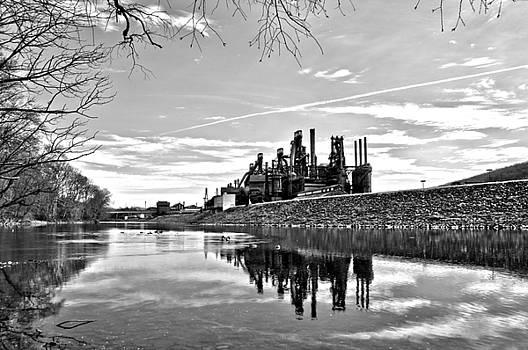 Reflection on the Lehigh by DJ Florek