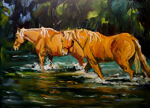 Reflection River Horse by Diane Whitehead