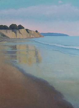 Reflections at Summerland Beach Series 3 by Jennifer Boswell