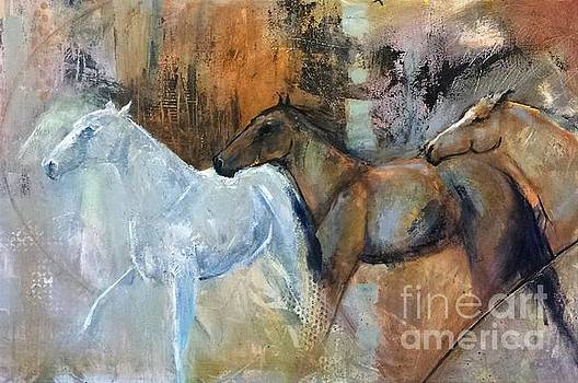 Reflextion of the White Horse by Frances Marino