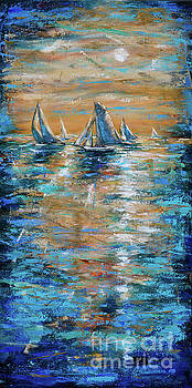 Regatta at Sunset by Linda Olsen