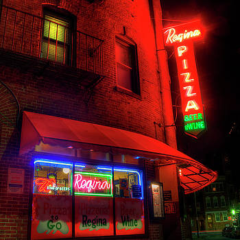 Regina Pizza Neon Sign 2 - Boston North End by Joann Vitali