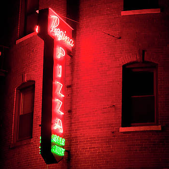 Regina Pizza Neon Sign - Boston North End by Joann Vitali