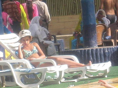 Relaxing After Swim by Saman Khan