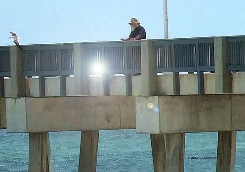 Relaxing On The Pier by Deborah