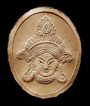 Relief Drawing of Goddess Durga Devi  by Suhas Tavkar