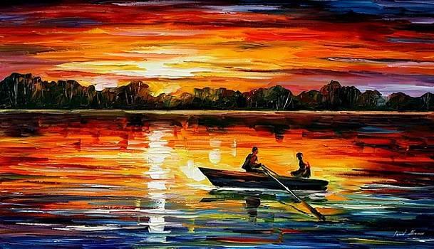 Remarkable Moment - PALETTE KNIFE Oil Painting On Canvas By Leonid Afremov by Leonid Afremov