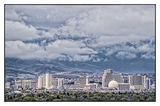 Reno Skyline Morning Clouds by Janis Knight