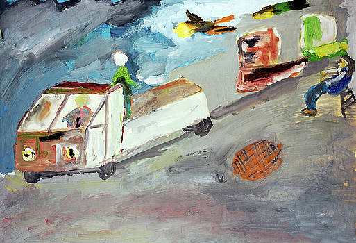 Repair of roads  by Aleksandr Volkov