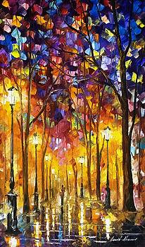 Repeated Feelings - PALETTE KNIFE Oil Painting On Canvas By Leonid Afremov by Leonid Afremov