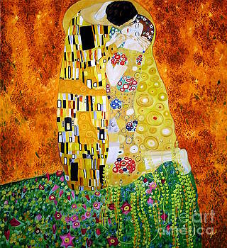 Reproduction of The Kiss by Gustav Klimt by Zedi