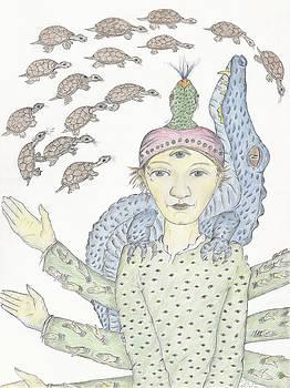 Reptilia-Shiva by Bert Menco