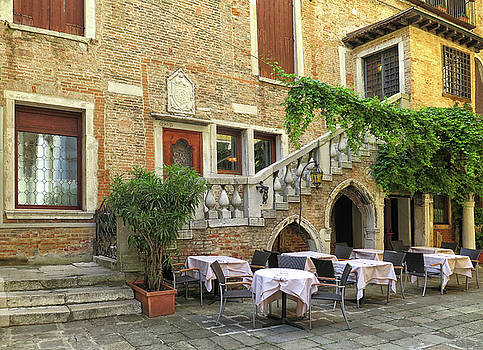 Restaurant in Venice by Dave Mills