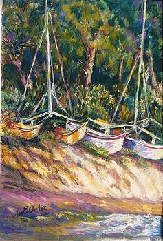 Resting Boats by Marieve Ortiz