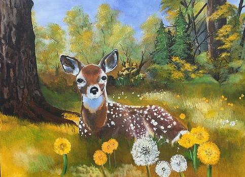 Resting in a Meadow by Tim Loughner