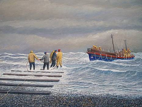 Retreiving The Royal National Lifeboat Institution Boat Charles Didbin  by William H RaVell III